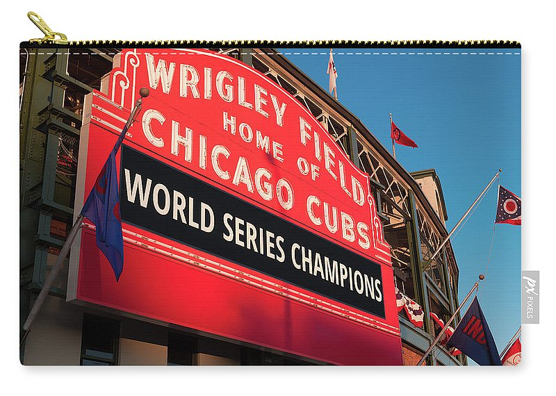 9efb1c6382 Chicago Carry-all Pouch featuring the photograph Wrigley Field World Series  Marquee Angle by Steve