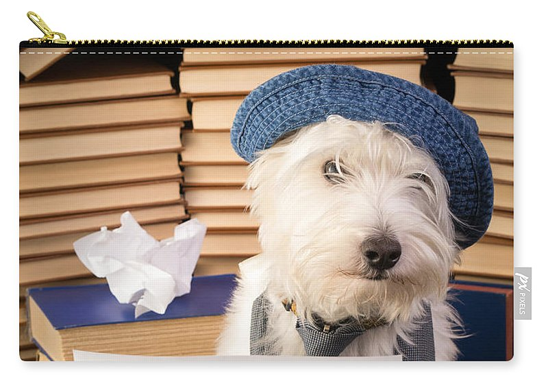 Dog Carry-all Pouch featuring the photograph Writer's Block by Edward Fielding
