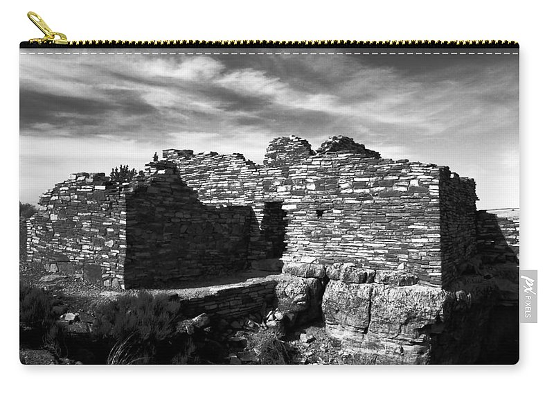 Wupatki National Monument Arizona Carry-all Pouch featuring the photograph Wupatki by David Lee Thompson