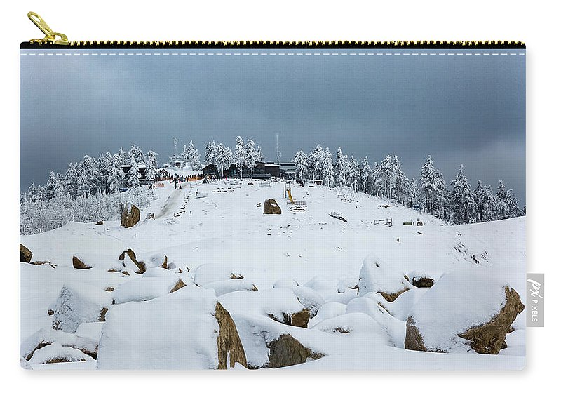 Outdoors Carry-all Pouch featuring the photograph Wurmberg, Harz Mountains by Andreas Levi
