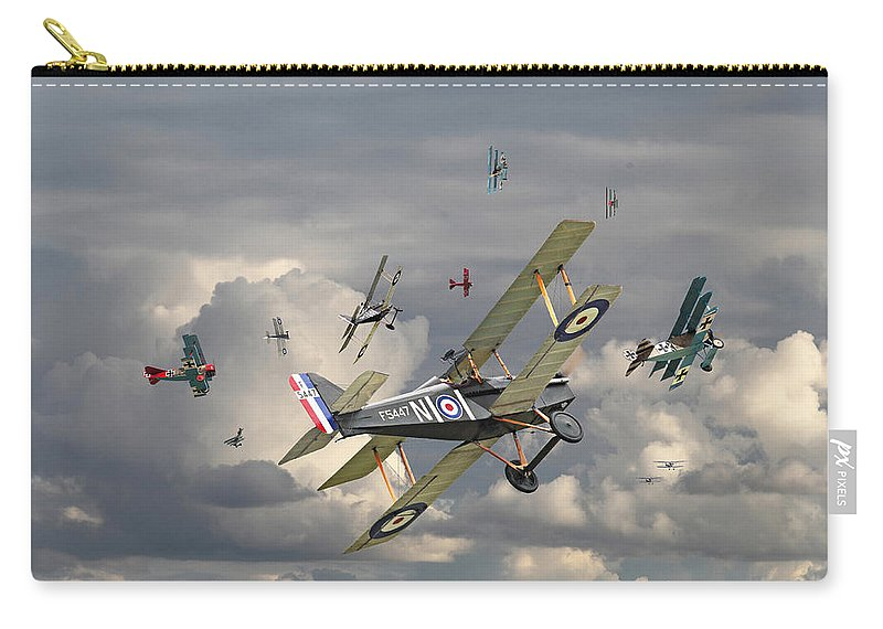 Aircraft Carry-all Pouch featuring the photograph Ww1 - 'wings' by Pat Speirs