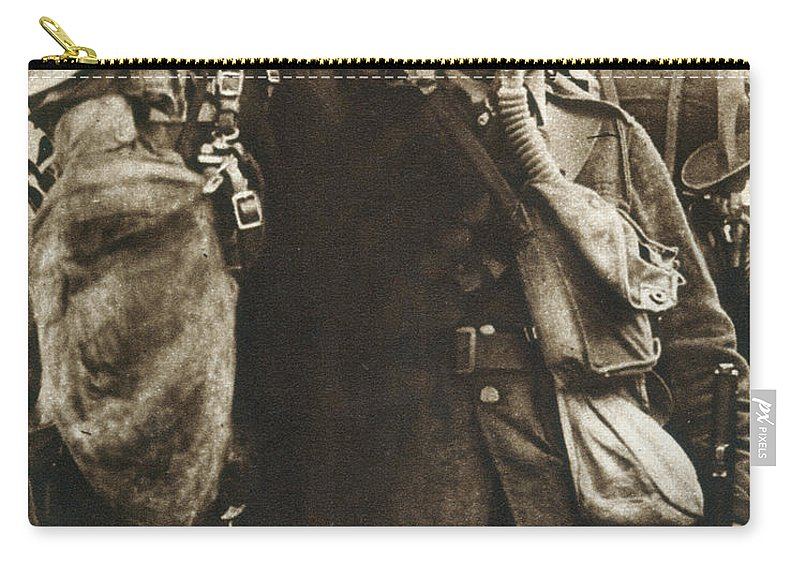 20th Century Carry-all Pouch featuring the photograph Wwi: Gas Warfare by Granger
