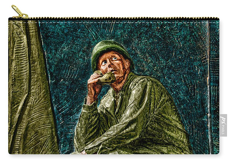 National Wwii Memorial Carry-all Pouch featuring the photograph Wwii Radioman by Christopher Holmes