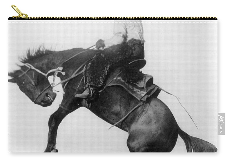 1911 Carry-all Pouch featuring the photograph Wyoming: Cowboy, C1911 by Granger