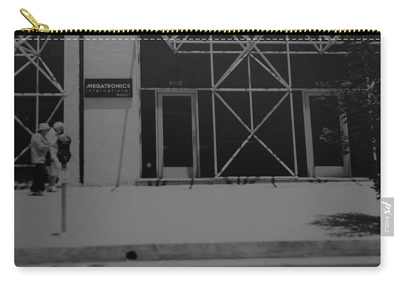 Black And White Carry-all Pouch featuring the photograph X by Rob Hans