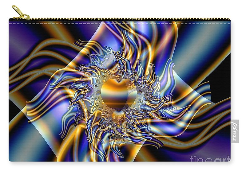 Fractal Art Carry-all Pouch featuring the digital art X by Ron Bissett