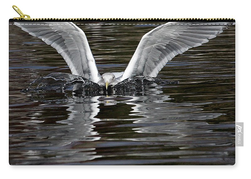 Sea Gull Carry-all Pouch featuring the photograph X Wing by Randall Ingalls