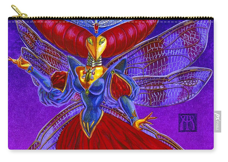 Magic The Gathering Carry-all Pouch featuring the painting Xira Arien by Melissa A Benson