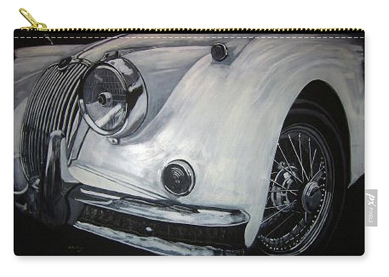 Car Carry-all Pouch featuring the painting Xk150 Jaguar by Richard Le Page