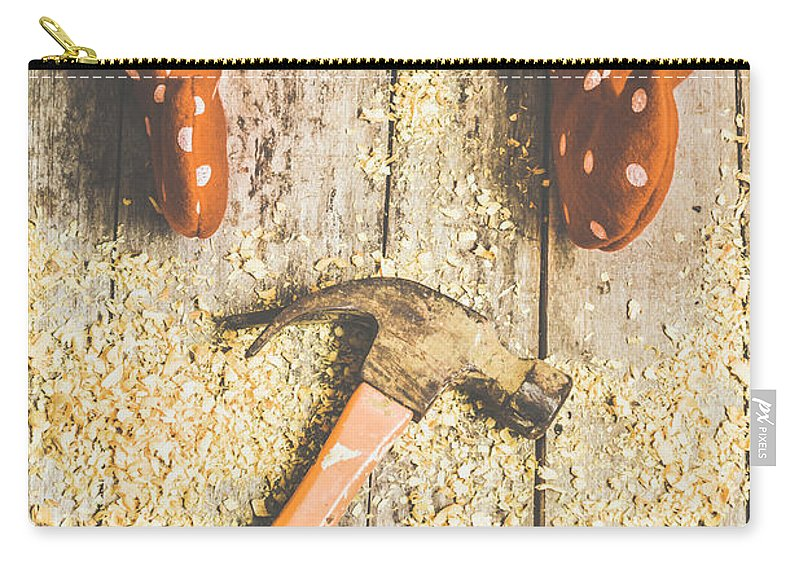 Workshop Carry-all Pouch featuring the photograph Xmas Workshop Elf by Jorgo Photography - Wall Art Gallery