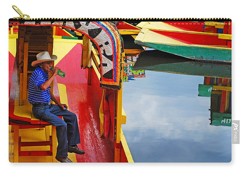 Skip Hunt Carry-all Pouch featuring the photograph Xochimilco by Skip Hunt