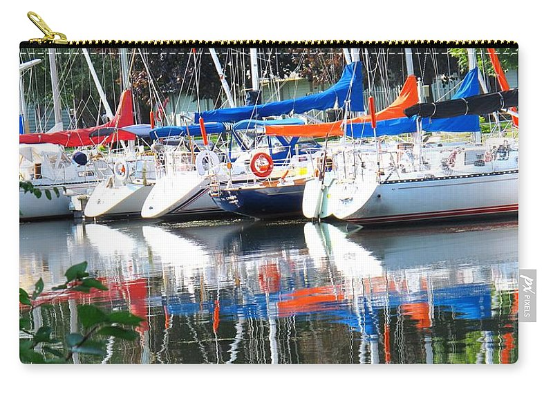 Boat Carry-all Pouch featuring the photograph Yachts At Rest by Ian MacDonald