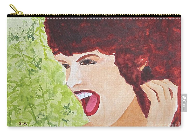 Woman Carry-all Pouch featuring the painting Yah by Sandy McIntire