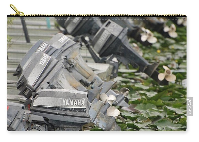 Boats Carry-all Pouch featuring the photograph Yamaha Outboards by Rob Hans