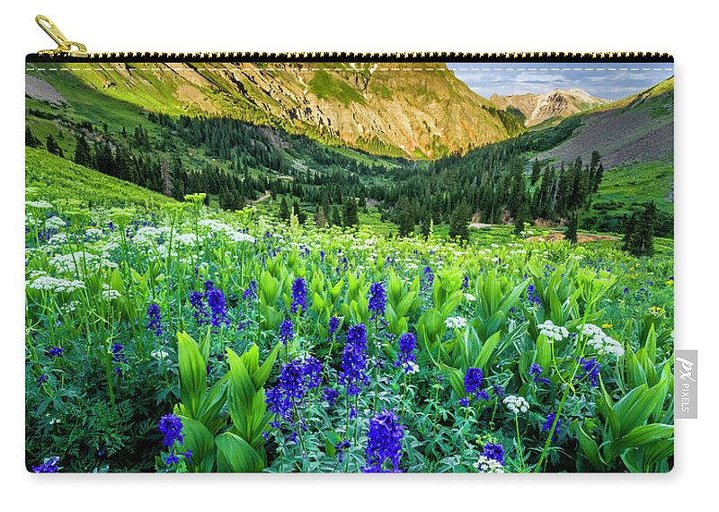 Yankee Boy Basin Carry-all Pouch featuring the photograph Yankee Boy Basin by Wick Smith