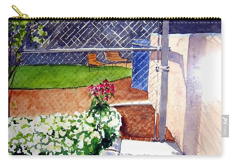 Ballpark Carry-all Pouch featuring the painting Yankee Stadium by Sandy Ryan