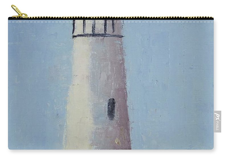 Yaquina Head Lighthouse Is Close To Newport Carry-all Pouch featuring the painting Yaqunia Head Lighthouse by Rosie Phillips