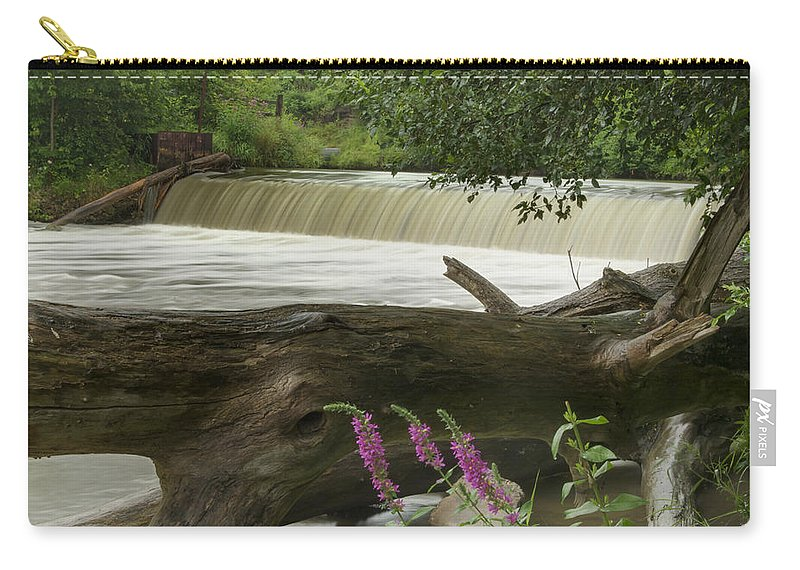 Landscape Carry-all Pouch featuring the photograph Yates Dam by Michael Peychich