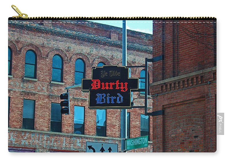 Ye Olde Durty Bird Carry-all Pouch featuring the photograph Ye Olde Durty Bird by Michiale Schneider