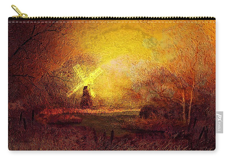 Landscape Carry-all Pouch featuring the painting Ye Olde Mill by Valerie Anne Kelly