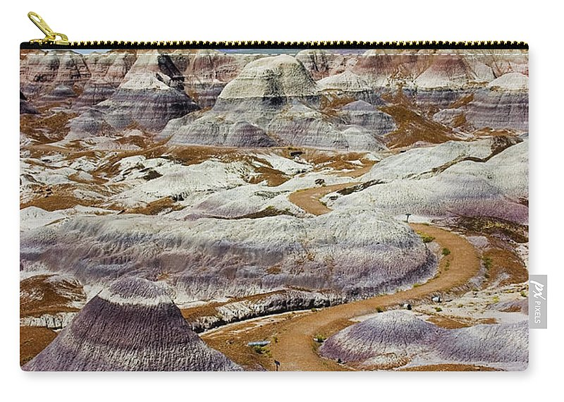 Painted Desert Carry-all Pouch featuring the photograph Yea Though I Walk by Skip Hunt