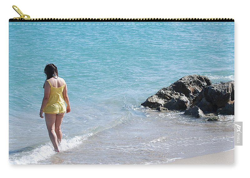 Sea Scape Carry-all Pouch featuring the photograph Yellow And Blue by Rob Hans