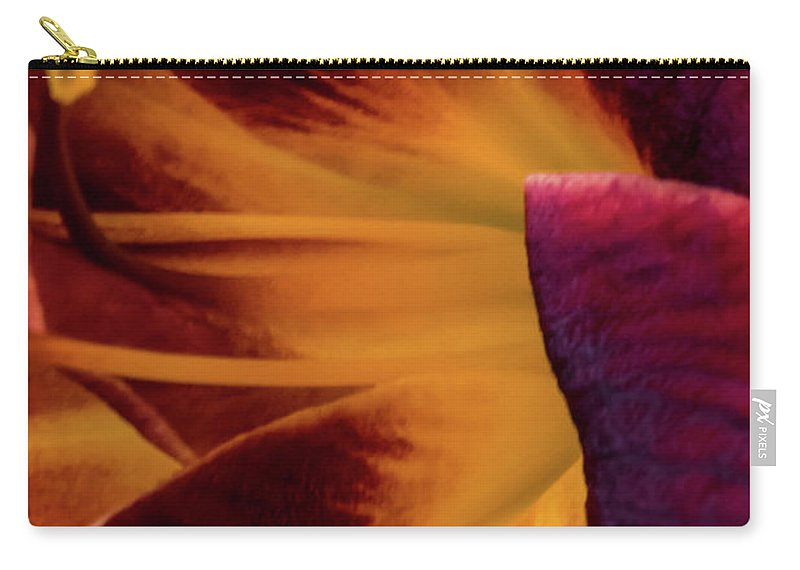 Jay Stockhaus Carry-all Pouch featuring the photograph Yellow And Purple by Jay Stockhaus
