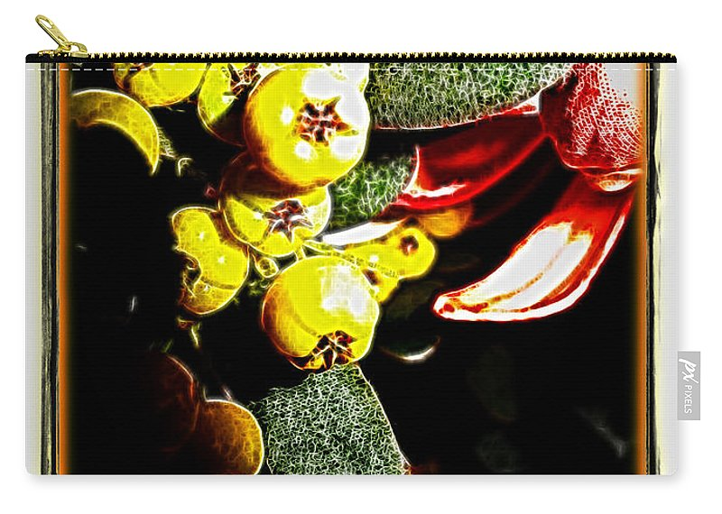Berries Carry-all Pouch featuring the photograph Yellow Berries by Joan Minchak