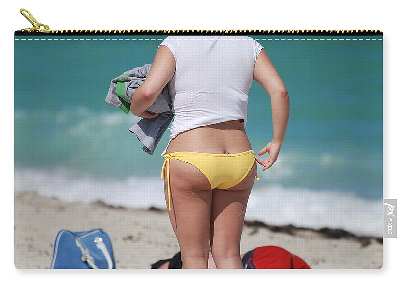 Sea Scape Carry-all Pouch featuring the photograph Yellow Bikini Bottom by Rob Hans