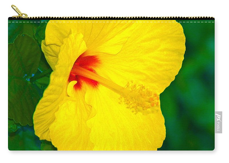 Flower Carry-all Pouch featuring the photograph Yellow Blossom by Athala Carole Bruckner
