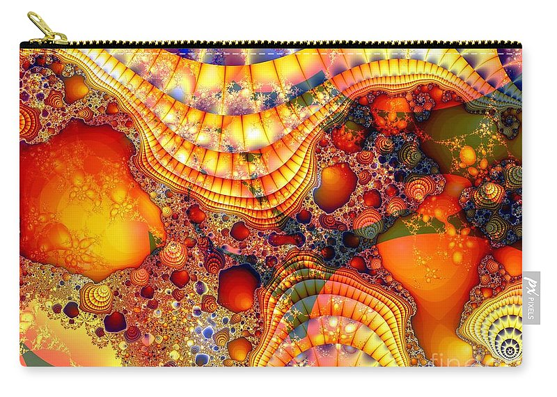 Fractal Carry-all Pouch featuring the digital art Yellow Brick Roads by Ron Bissett