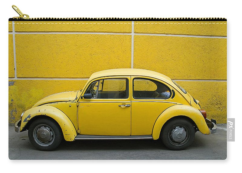 Yellow Carry-all Pouch featuring the photograph Yellow Bug by Skip Hunt