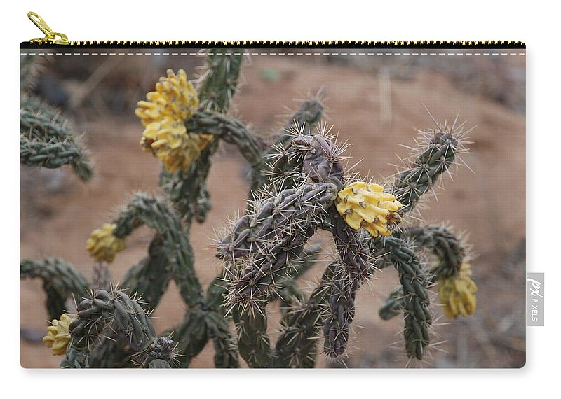 Cactus Carry-all Pouch featuring the photograph Yellow Cactus by Rob Hans