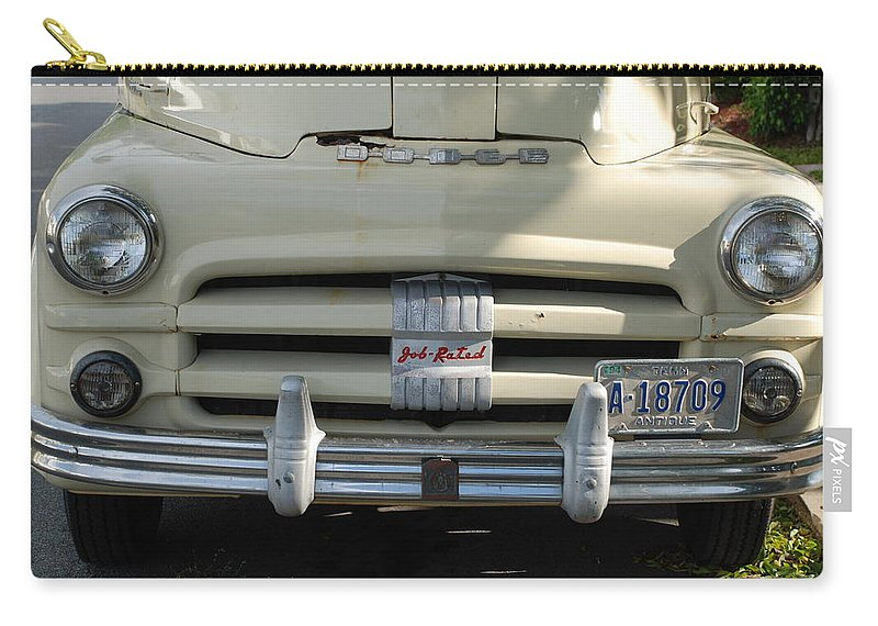 Truck Carry-all Pouch featuring the photograph Yellow Dodge by Rob Hans