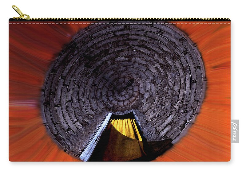 Keywords: Yellow Carry-all Pouch featuring the photograph Yellow Door In The Round by Wayne King