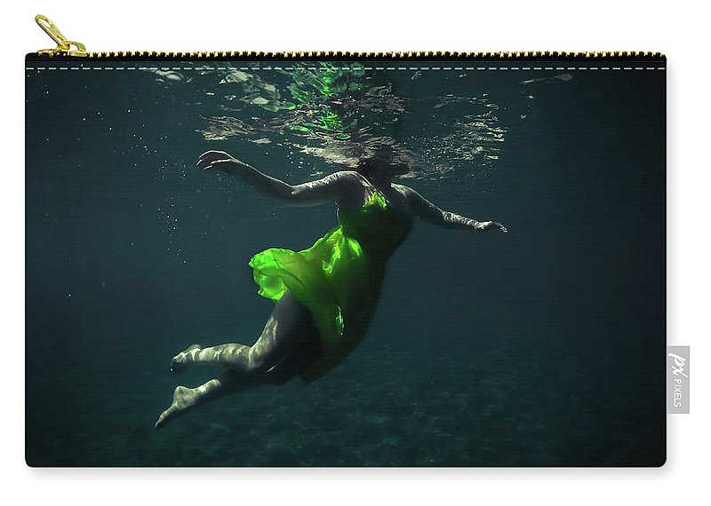Underwater Carry-all Pouch featuring the photograph Yellow Dress by Nicklas Gustafsson