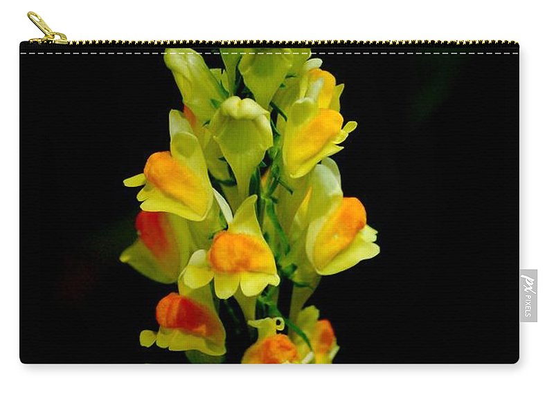 Digital Photograph Carry-all Pouch featuring the photograph Yellow Floral 7-24-09 by David Lane