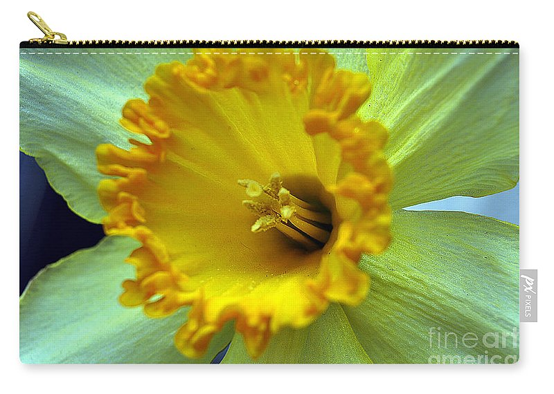 Clay Carry-all Pouch featuring the photograph Yellow Floral by Clayton Bruster