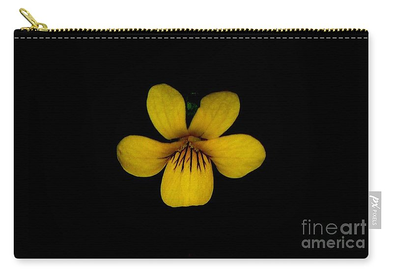 Landscape Carry-all Pouch featuring the photograph Yellow Flower 1 by David Lane