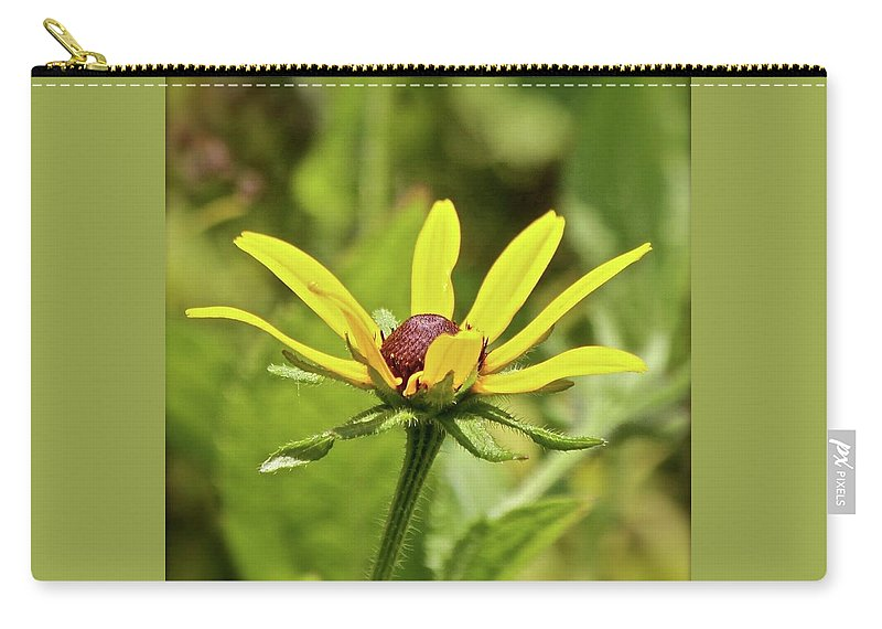 Yellow Flowers Carry-all Pouch featuring the photograph Yellow Flower by Kathy Kirkland