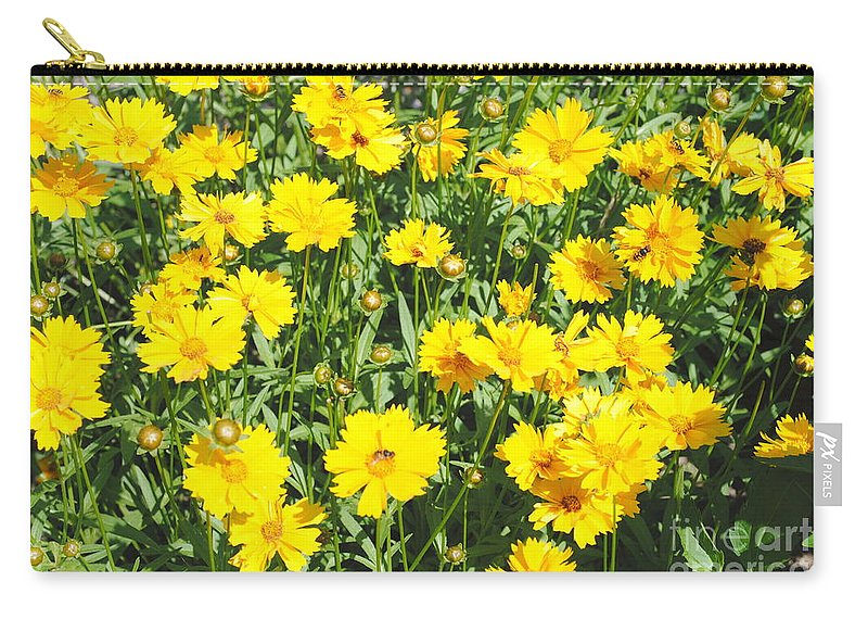 Yellow Carry-all Pouch featuring the photograph Yellow Flowers by Jost Houk