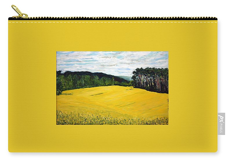 Landscape Carry-all Pouch featuring the painting Yellow Ground by Pablo de Choros