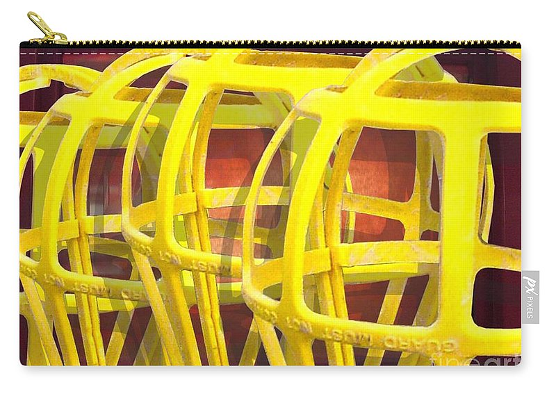 Digital Art Carry-all Pouch featuring the digital art Yellow Guard by Ron Bissett