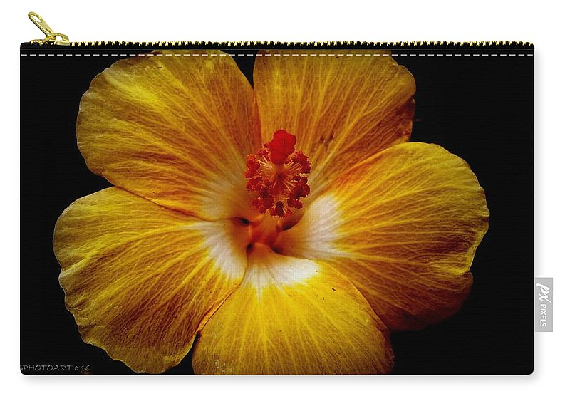 Flower Carry-all Pouch featuring the photograph Yellow Hi by Kathy Barney