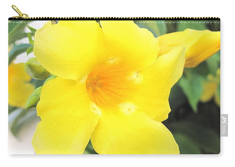 Yellow Carry-all Pouch featuring the photograph Yellow Hibiscus St Kitts by Ian MacDonald