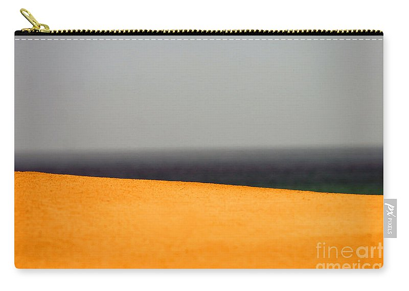 Yellow Carry-all Pouch featuring the photograph Yellow Horizon by Hana Shalom
