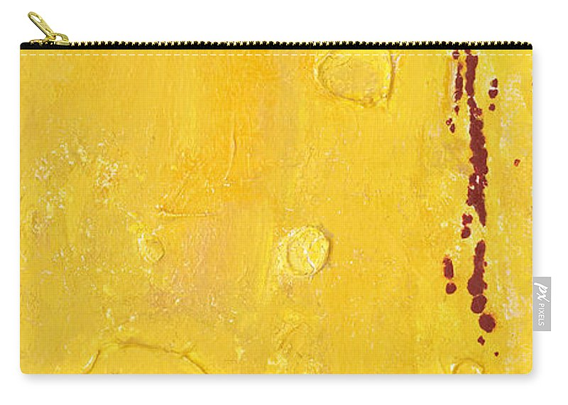 Mixed Media Carry-all Pouch featuring the mixed media Yellow by Jaime Becker