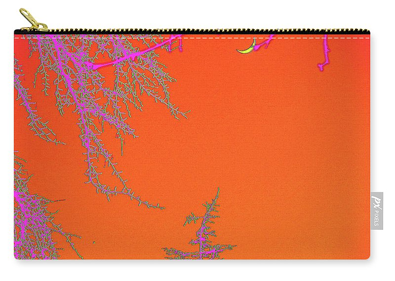 Moon Carry-all Pouch featuring the digital art Yellow Moon by Marc Dettloff