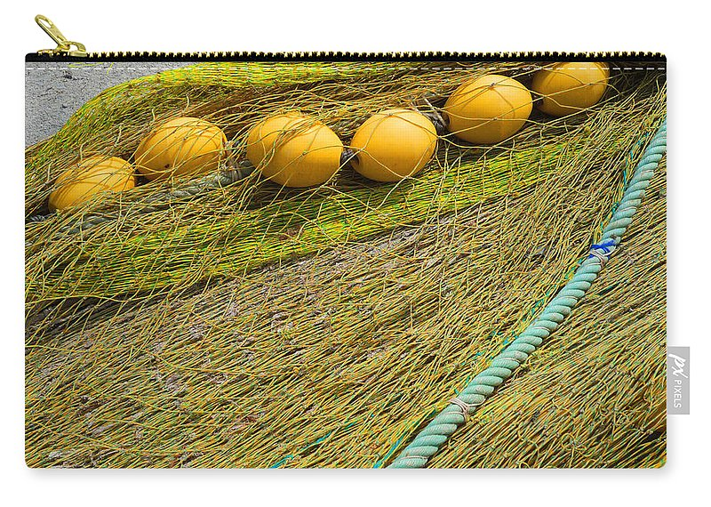 Fishing Net Carry-all Pouch featuring the photograph Yellow On Lime by Charles Stuart