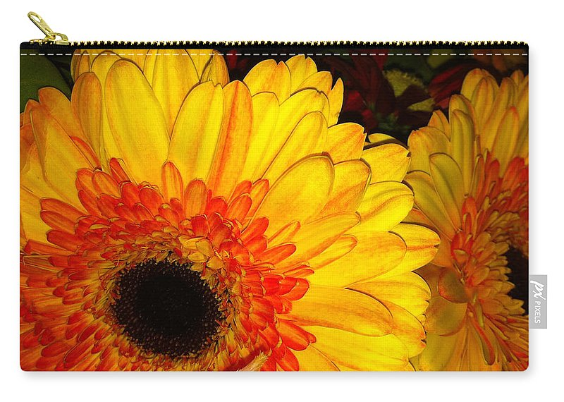 Flowers Carry-all Pouch featuring the photograph Yellow-orange by Kimberly Mohlenhoff